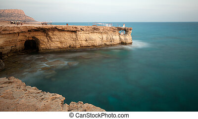 Cavo Greco or Cape Greco sea caves, Cyprus - Cavo Greco or...