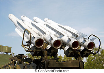Air defense - Anti-aircraft air defense missiles on position