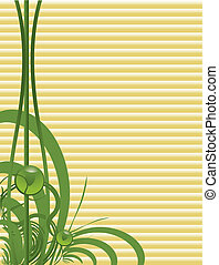 Green tan background - Green abstract  on a tan background