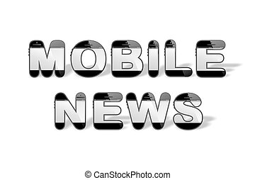 MOBILE NEWS designed with smartphon