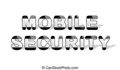 MOBILE SECUR designed with smartpho