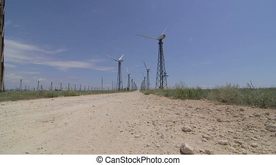 Wind Turbine Farm - The road to wind turbine farm