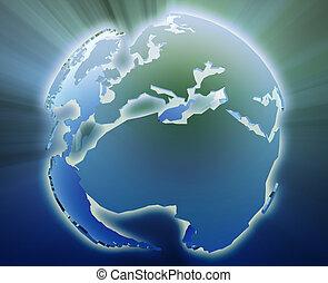Globe Europe Africa - Globe map illustration of the Europe...