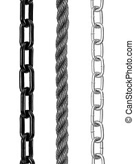 Chain - A metal chain isolated against a white background