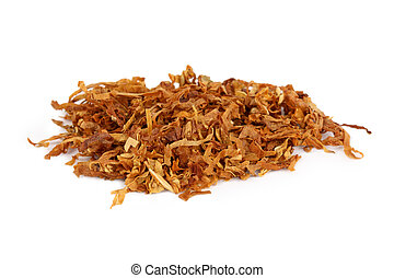 pipe tobacco - a pile of pipe tobacco with white background
