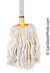 cotton mop isolated on white background