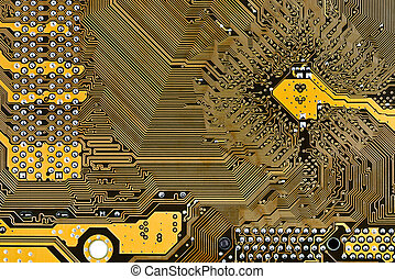 motherboard circuit board background close up