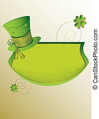 St Patrick's Day banner background on tan background