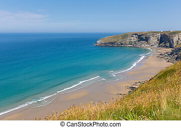Trebarwith Strand beach Cornwall near Tintagel England UK