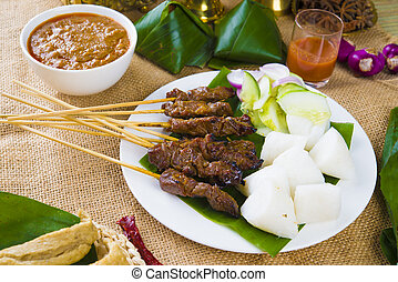 satay malay hari raya foods ,focus on the meat