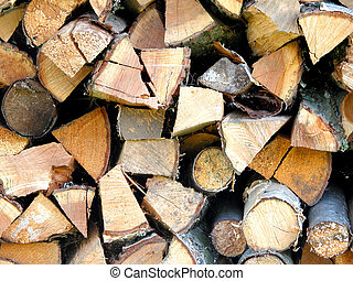 Woodpile - choped wood pile natural organic abstract and...