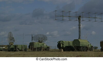 Military Radar Base - Mobile military air defence system...