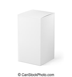 White box - Box. Illustration on white background for...