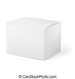 White box Illustration on white background for design