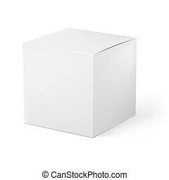 White box Illustration on white background for creative...