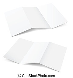 Folded Paper Illustration on white background for creative...