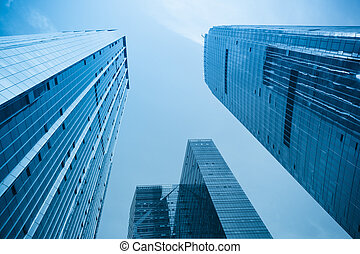 office building in modern city - modern office background of...