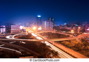 road junction - a road junction at shenzhen,China