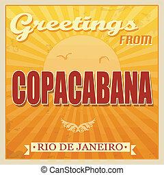 Vintage Copacabana, Rio de Janeiro poster