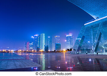 night scenes of chinese modern city - night scenes of...