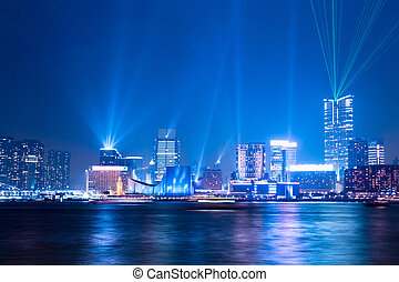 "interactive lights show ""a symphony of lights"" in Hong Kong..."