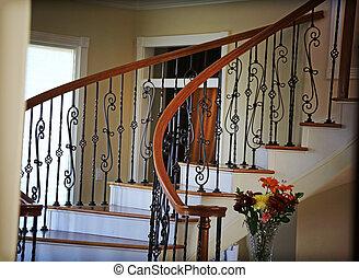 Winding Stairwell - An elegant stairwell winding down