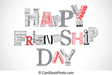 Happy Friendship Day Greetings - illustration of friendship...