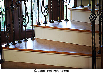 Winding Stairwell Detail - An elegant stairwell winding down