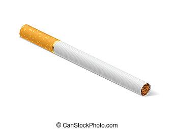 Cigarette - Realistic cigarette. Illustration on white...
