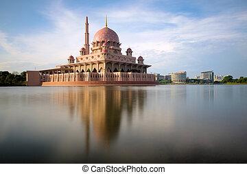 putrajaya mosque by the lake - Taken at 10.45am