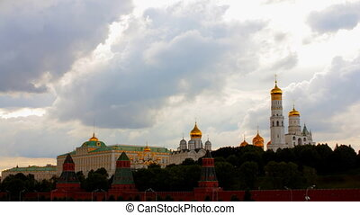 cloudy Moscow kremlin time lapse