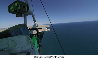 Hang-gliding over seashore cape Tarhankut, Crimea