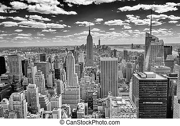 New York Skyline, Panorama over Manhattan from the Top of...