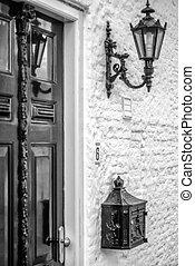 Antique door in classic setting