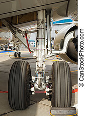 front landing gear light aircraft - rear landing gear and...