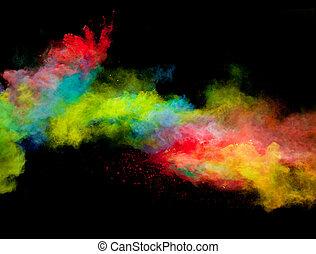 coloré, poussière