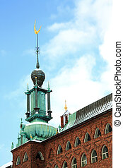 Tower of Stockholm Cityhall - Moon Symbol Tower of Stockholm...