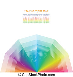 Color wheel background Vector Illustration