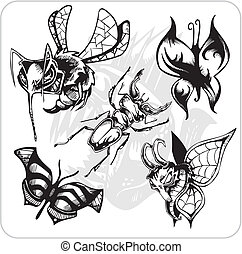 Vector Set - Aggressive Insects - Vinyl-ready vector set...