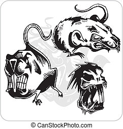 Vector Set - Aggressive Rat. - Vinyl-ready vector set.