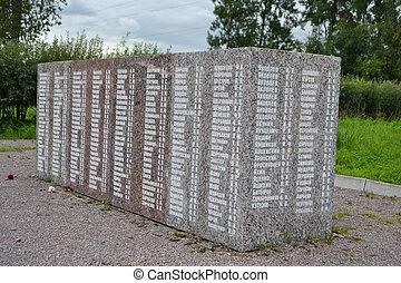 War memorial, St. Petersburg. - War memorial in the vicinity...