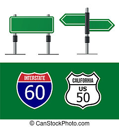 Road sign template - Modern road sign Design template