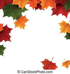 Vector Autumn Background - Vector Illustration of an Autumn...
