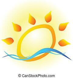 sun art vector illustration