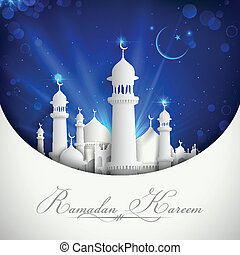 Eid Mubarak Background - illustration of Eid Mubarak...