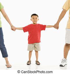 niño, padres