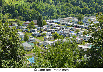 Campsite - Campground lying beside the River Ourthe in the...