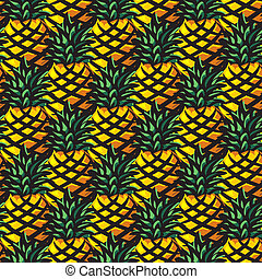 ananas background - vector seamless background with...