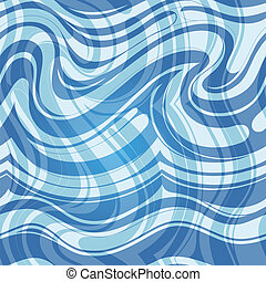 Seamless water pattern - Seamless abstraction with flowing...