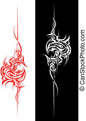 Tribal art - Tribal tattoo graphic element isolated on white...